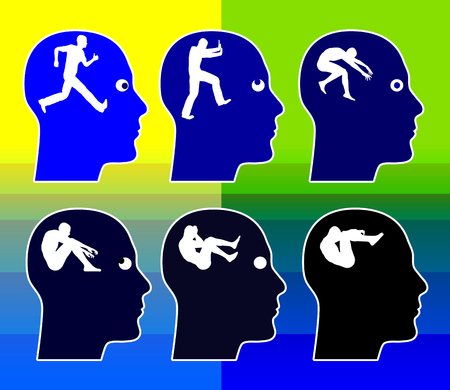 gradual: P�rdida de memoria gradual Alzheimer y la demencia Concepto sobre una longitud de tiempo