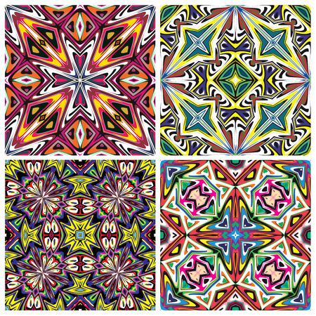majolica: Ceramic Tiles  Mediterranean style pattern, trendsetting in brilliant and vibrant colors, seamless in vector art for interior design