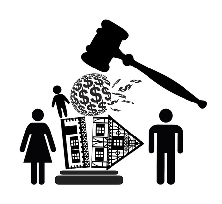 divorce: Divorce Decree  Court dealing with division of property and custody rights of kid