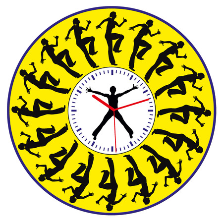 race for time: Race against Time  Concept sign of a young woman facing time pressure all day long