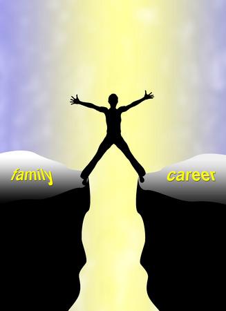 problemas familiares: Familia Concepto de Carrera Doble carga y el desafío para la mujer encontrar el equilibrio entre familia y trabajo