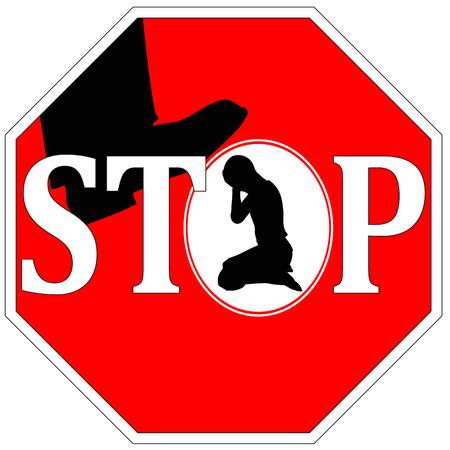 コンセプト記号の女性に対する暴力を停止します。