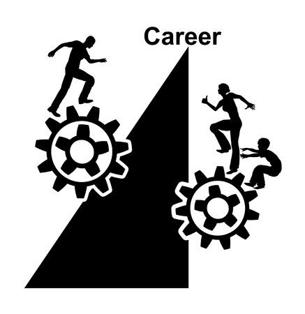 unequal: Condiciones desiguales. Las oportunidades de empleo entre hombres y mujeres no son competencia Foto de archivo