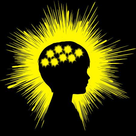 脳の異常な電気活動によって引き起こされるてんかんの発作のシンボル