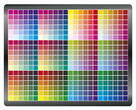 calibration: Monitor Calibration. Color chart to get accurate and predictable prints