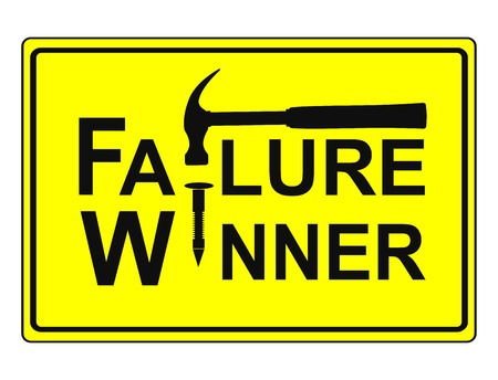 Fail and Win Concept. With every failure you get the chance to win, conceptual sign and business metaphor photo