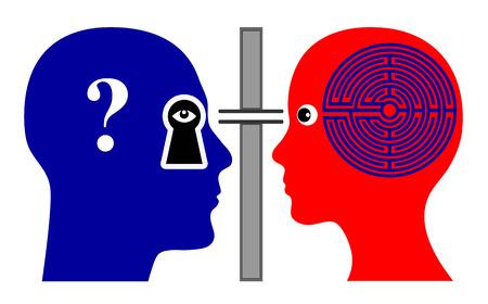 psychoanalysis: Psychoanalyst. Psychologist analyzing female patient rising many questions