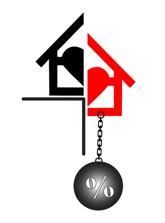 bank owned: Foreclosure. Concept sign for the real estate market and the bank business