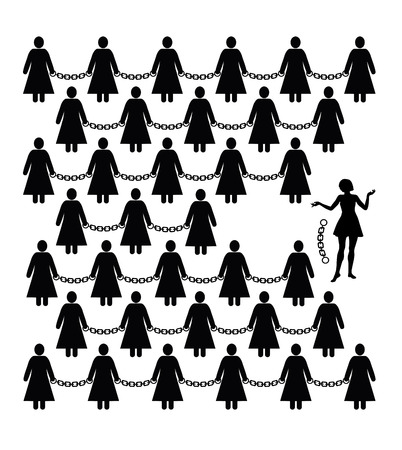 Feminist Movement. Concept sign for women?s liberation against discrimination and freedom