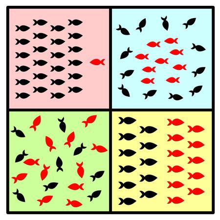 dynamics: Group Behavior and Dynamics. Stock Photo