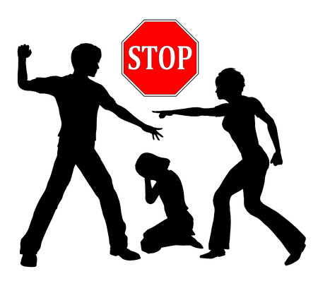 nonviolent: Stop violence against Children. Corporal punishment like spanking in order to discipline children is out of any question Stock Photo