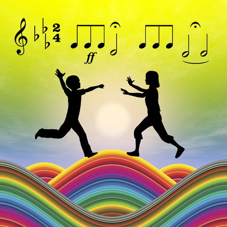 music education: Music Education. Music as an essential part in early childhood education for development Stock Photo