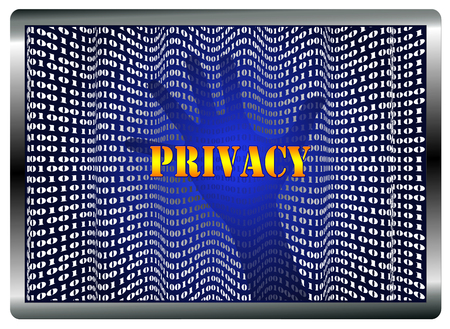theft prevention: Loss of Privacy. Concept sign of data theft in order to steal confidential information