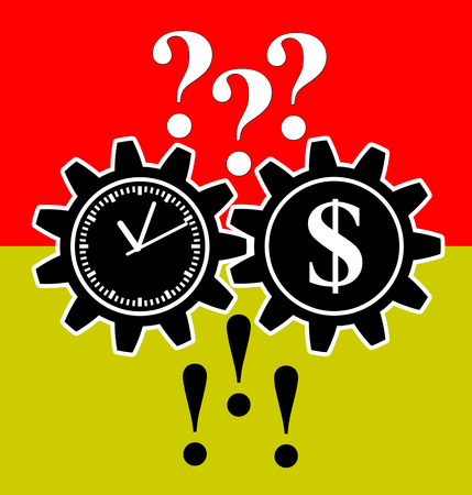 worries: Problem Solver. Time and money will turn many questions into answers as simple business advice Stock Photo