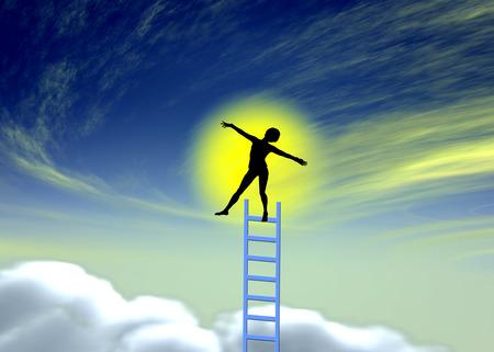 Lucid Dreams. Concept teken van een jonge vrouw, hetzij gedrogeerd, in trance, mediteren of onder hypnose Stockfoto