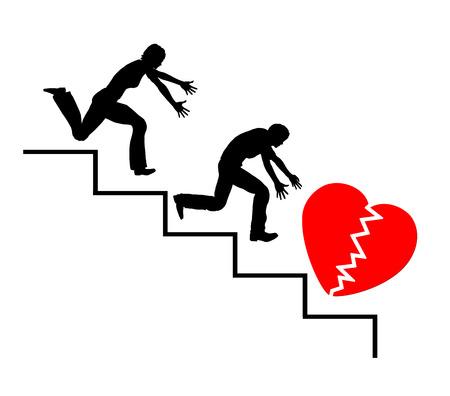 love of life: Salvare il matrimonio. Concetto di segno di una coppia fare il tentativo di salvare la loro vita l'amore Archivio Fotografico