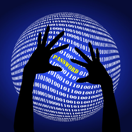cyber war: Password Fraud. Warning sign to become alert to identity fraud on the internet