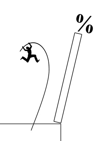 market crash: Hunt for High Yield Assets. Symbol for the greed for money and the danger of risky investments Stock Photo