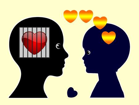 empatia: Hijo no deseado. Muestra del concepto de madre incapaz de relacionarse con su hijo que está pidiendo para el amor