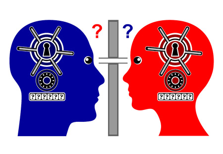 mistrust: Ending Relation. Two partner mistrust each other and stop communication