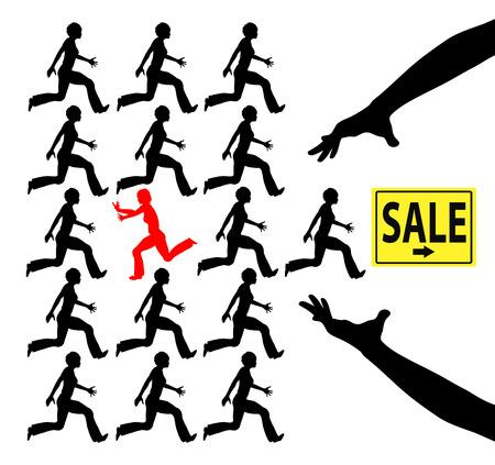 deceptive: Afzetterij. Concept teken van de speciale aanbieding als teaser die overgaat in fraude Stockfoto