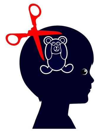 psicologia infantil: Abuso Infantil. Muestra del concepto de niño maltratado que sufren de la experiencia traumática de por vida