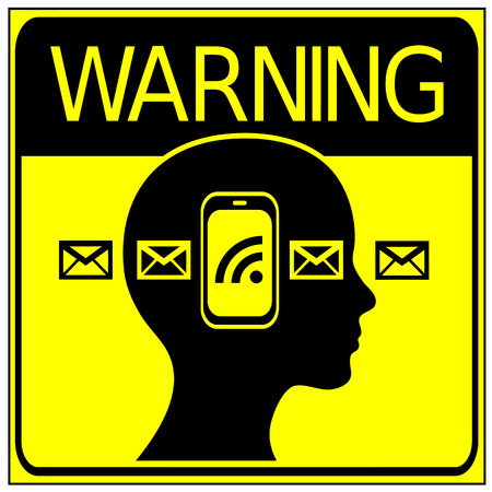phone ban: No Cell Phone in Road Traffic. Warning sign not to phone or write messages when your attention is seriously needed like on the road or in business