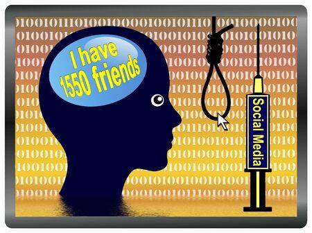 illusory: Medios Depresi�n Social. Red Social se est� convirtiendo en un mundo de hacer creer con amigos ilusorias que pueden conducir a trastornos depresivos