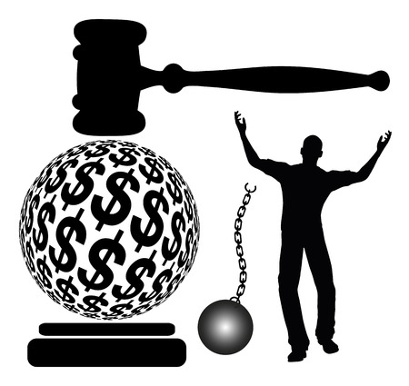 Bail out of Jail. Defendant is getting out of jail which is accomplished by posting bail Stock Photo