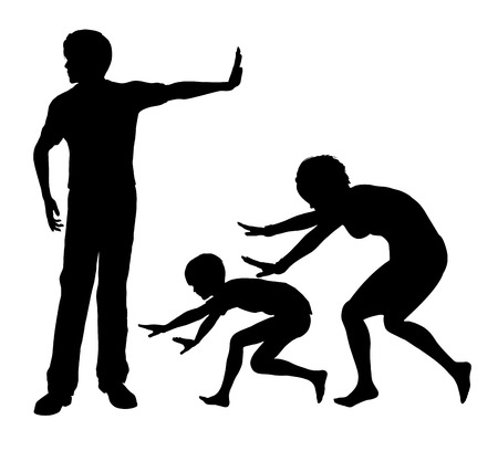 cruelty: Psychological Abuse. Concept sign of humiliation and mental cruelty within the family as part of domestic violence Stock Photo