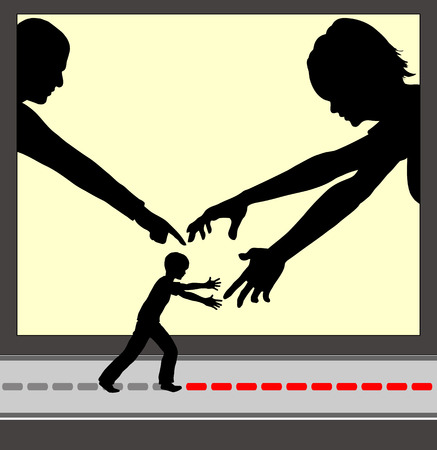 Overparenting. Concept sign of parents who are excessively involved in the life of their child