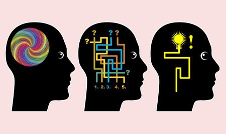 Volwassenenonderwijs Concept. Effectieve leerstijl door brainstorming en zelfstandig oplossen van problemen in het volwassenenonderwijs Stockfoto