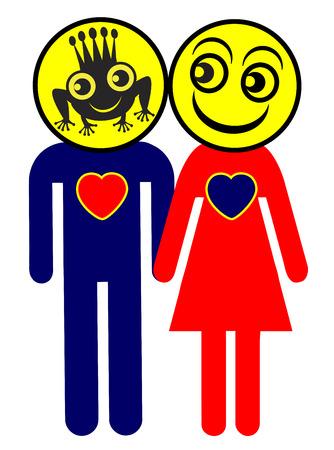 principe rana: Amor a primera vista. Met�fora humor�stica derivado del famoso cuento de hadas del pr�ncipe rana y el hecho de que el amor es ciego