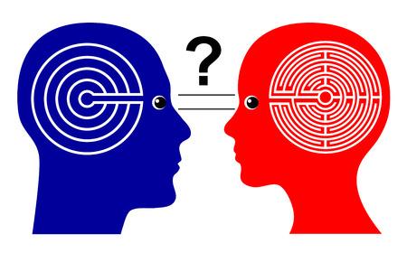 psique: Diferentes formas de pensar. El aumento de la pregunta si los hombres y las mujeres piensan de manera diferente que lleva a malos entendidos