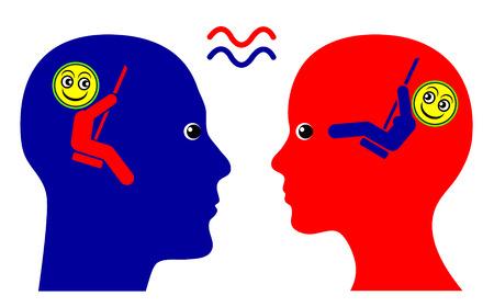 the psyche: Misma longitud de onda. Muestra del concepto de simpatía mutua y sentido de comunidad entre el hombre y la mujer