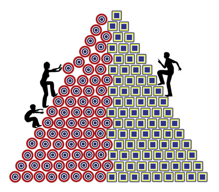 desigualdad: La desigualdad en el Trabajo. Concepto signo que muestra que las madres tienen menos oportunidades en sus carreras profesionales Foto de archivo