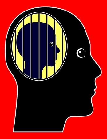 vida social: Morbid celos. Aislar la pareja y el control de la vida social como trastorno psicológico Foto de archivo