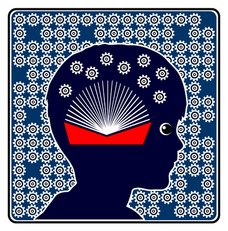 early childhood education: Brain Development by Reading. Concept sign to show the importance of books in early childhood education