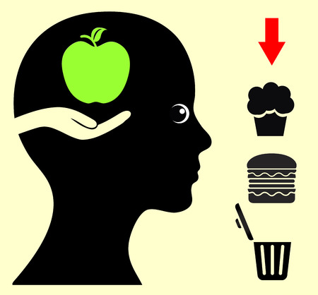 eating habits: Change your Food Habits. Breaking bad eating habits with health food like fruits