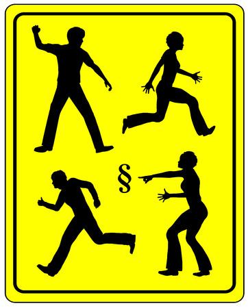 Retaliation. Woman takes revenge on her violent partner. Stock Photo