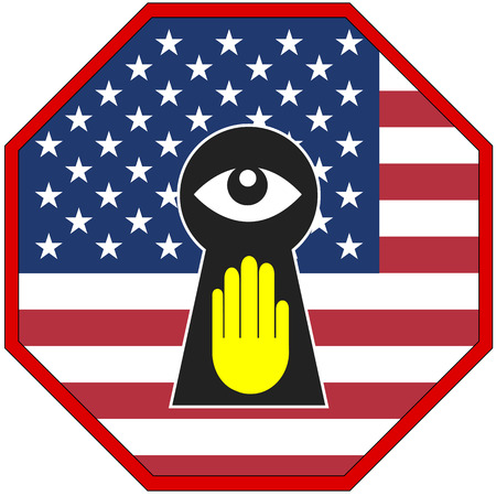 insist: USA Stop Spying. European countries insist that the US Government stops spying on them Stock Photo