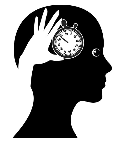 effectively: Time Management. Concept sign of a woman managing her time Effectively