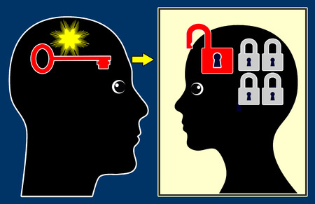 psychiatric: Psychiatric Session. Concept sign of a psychiatric consultation with the psychiatrist and a female patient