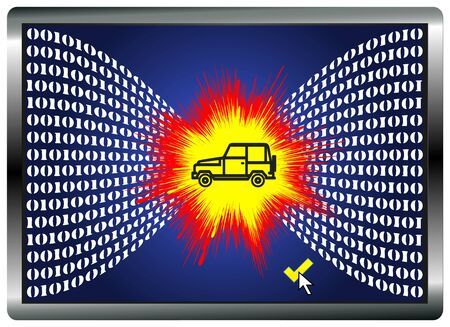 computer crash: Car Hacking. Vehicles can be manipulated and crash by hacking the computer system