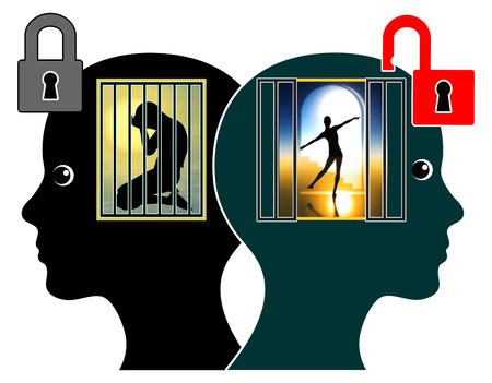 Libérer l'enfant intérieur. Les adultes doivent apprendre à surmonter leur traumatisme émotionnel de l'enfance Banque d'images