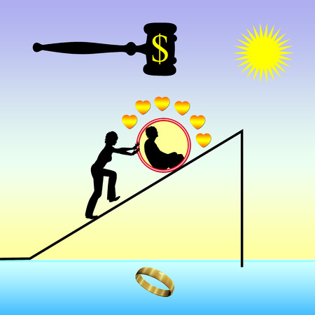 divorcing: Divorce plan. She plans to file for divorce while he is blindsided and still in love