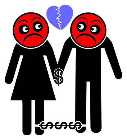 Moneymore important than love. Money keeps tight couple together even though without affection