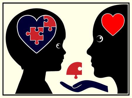 psique: La confianza básica. Niño está desarrollando confianza básica a través de los padres en la Educación Infantil