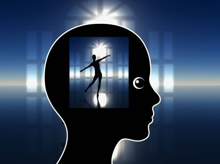 fulfillment: Lucid Dreaming. Woman is visualizing her Artistic Performance to overcome her jitters