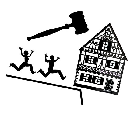 compulsory: Couple Losing Their Home. Loss of house due to mortgage debt and foreclosure